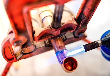 gas pipe cutting